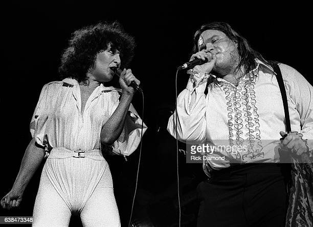 Singer/Songwriter Karla DeVito and Singer/Songwriter Meat Loaf perform at Symphony Hall in Atlanta Georgia April 12 1978