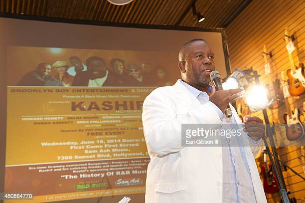 Singer/Songwriter Kashif performs during Black Music Month at Sam Ash Music Store on June 18, 2014 in Hollywood, California.
