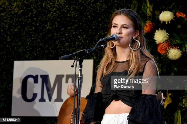 Singersongwriter Kassi Ashton performs onstage during the 2017 CMT Next Women Of Country Celebration at City Winery Nashville on November 7 2017 in...