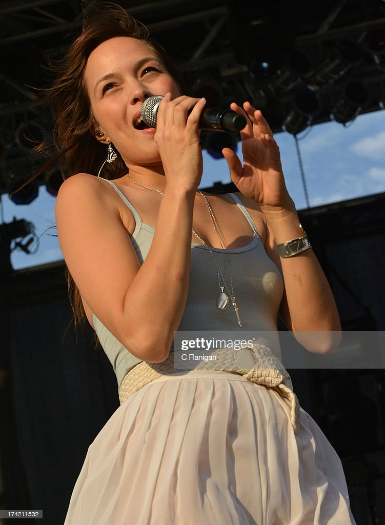 Singer-Songwriter Kate Earl performs during the California Mid-State Fair on July 21, 2013 in Paso Robles, California.