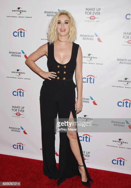 Singer-songwriter Katy Perry arrives at the Universal Music Group's 2017 GRAMMY After Party at The Theatre at Ace Hotel on February 12, 2017 in Los...