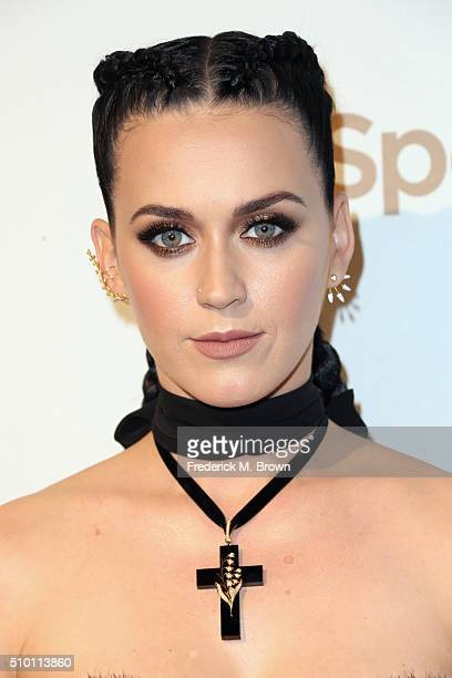 Singer/songwriter Katy Perry attends The Creators Party presented by Spotify at Cicada on February 13 2016 in Los Angeles California