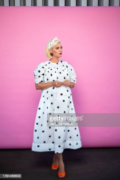Singer/songwriter Katy Perry is photographed for Los Angeles Times on July 29, 2020 i on the rooftop of Capitol Records n Hollywood, California....