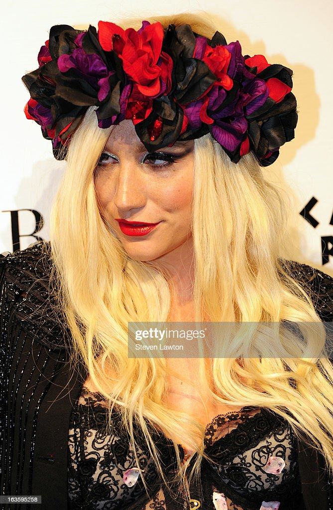 Singer/songwriter Ke$ha arrives at the Pure Nightclub at Caesars Palace to host the club's eighth anniversary party on March 12, 2013 in Las Vegas, Nevada.