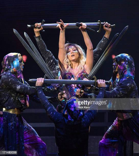 Singersongwriter Ke$ha performs in concert at the ATT Center on June 24 2013 in San Antonio Texas