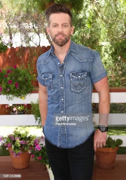SingerSongwriter Keifer Thompson of the Country Music duo Thompson Square visits Hallmark's Home Family at Universal Studios Hollywood on September...