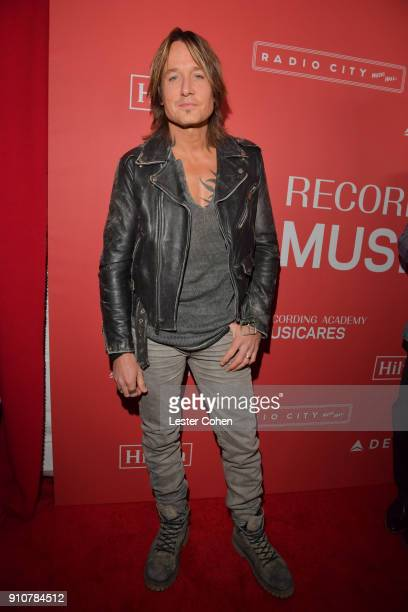 Singersongwriter Keith Urban attends MusiCares Person of the Year honoring Fleetwood Mac at Radio City Music Hall on January 26 2018 in New York City