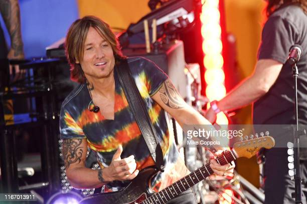 Singer/songwriter Keith Urban performs On ABC's Good Morning America at SummerStage at Rumsey Playfield Central Park on August 09 2019 in New York...