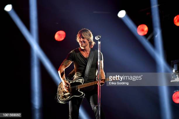Singersongwriter Keith Urban performs onstage during the 52nd annual CMA Awards at the Bridgestone Arena on November 14 2018 in Nashville Tennessee