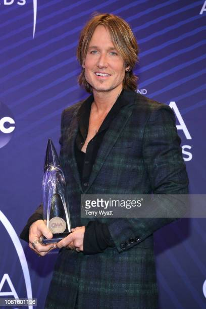 Singersongwriter Keith Urban speaks to the press during the 52nd annual CMA Awards at the Bridgestone Arena on November 14 2018 in Nashville Tennessee