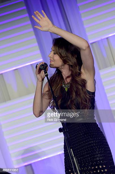 Singer/Songwriter Kelleigh Bannen performs during the 2014 Women In Music City Awards at the Omni Hotel on September 15, 2014 in Nashville, Tennessee.