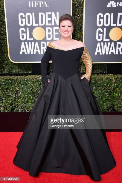 Singersongwriter Kelly Clarkson attends The 75th Annual Golden Globe Awards at The Beverly Hilton Hotel on January 7 2018 in Beverly Hills California