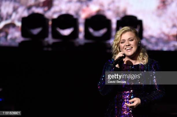 Singer/songwriter Kelly Clarkson performs at the Sands Cares INSPIRE 2019 charity concert benefiting local nonprofit organizations at The Venetian...