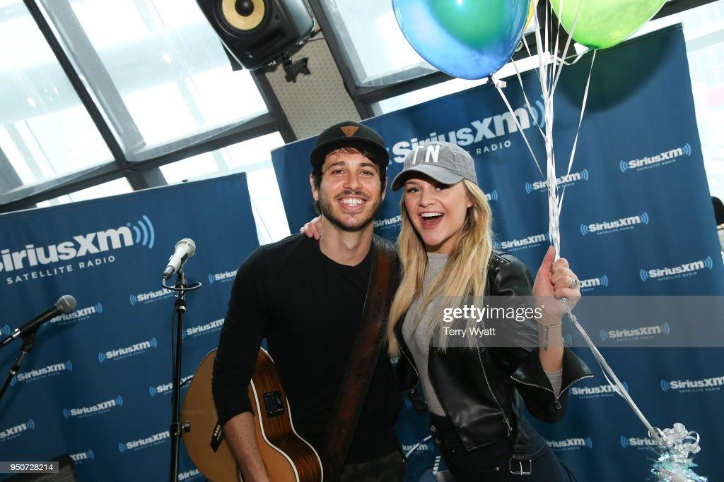 Kelsea Ballerini & Morgan Evans Visit SiriusXM Nashville Studios