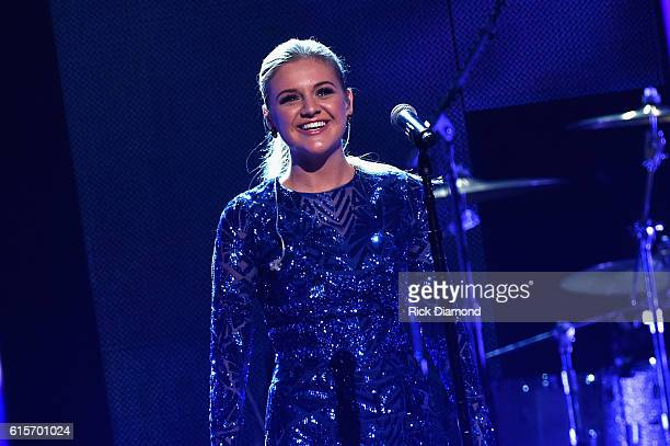 Singersongwriter Kelsea Ballerini performs on stage during CMT Artists of the Year 2016 on October 19 2016 in Nashville Tennessee