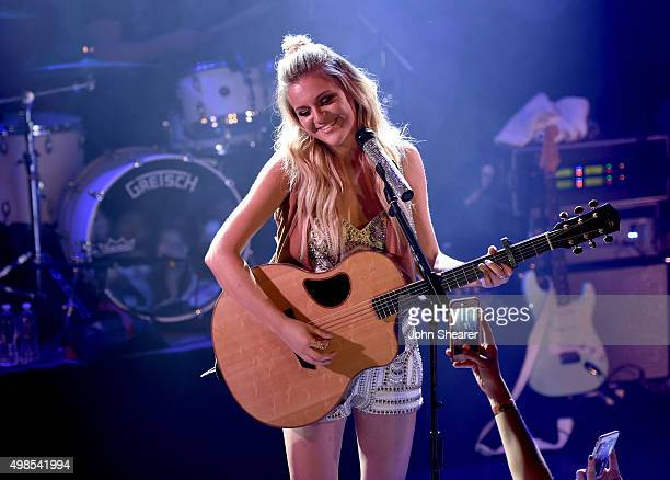 Singer/songwriter Kelsea Ballerini performs onstage at Troubadour on November 23 2015 in West Hollywood California