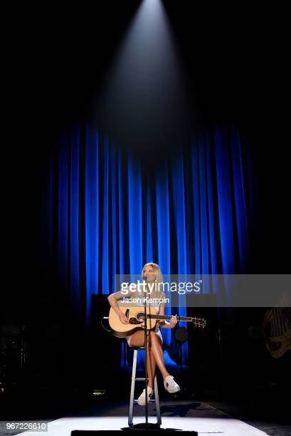 Singersongwriter Kelsea Ballerini performs onstage during Day 1 2018 CMT Music Awards Rehearsals at Bridgestone Arena on June 4 2018 in Nashville...