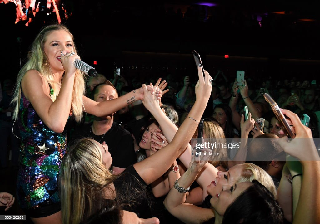 Singer/songwriter Kelsea Ballerini performs with fans during the ACM Party For A Cause: The Joint at The Joint inside the Hard Rock Hotel & Casino on April 1, 2017 in Las Vegas, Nevada.