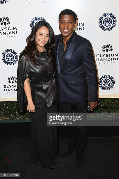 Singersongwriter Kenneth 'Babyface' Edmonds and actress Nicole Pantenburg arrive at The Art of Elysium presents Stevie Wonder's HEAVEN celebrating...
