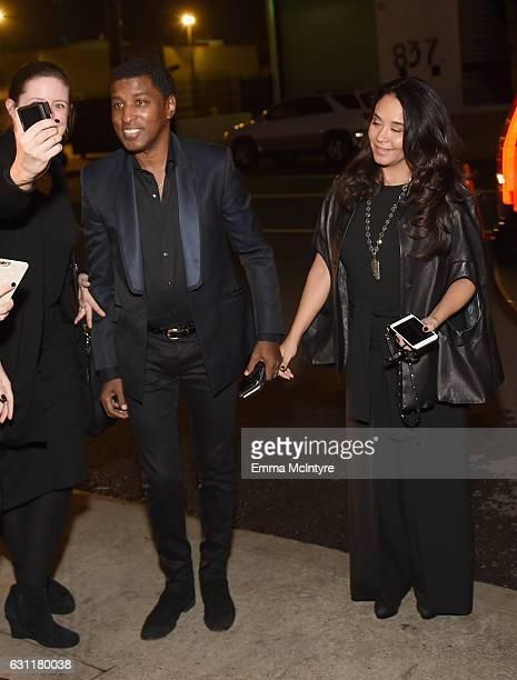 Singersongwriter Kenneth 'Babyface' Edmonds and actress Nicole Pantenburg attend The Art of Elysium presents Stevie Wonder's HEAVEN Celebrating the...