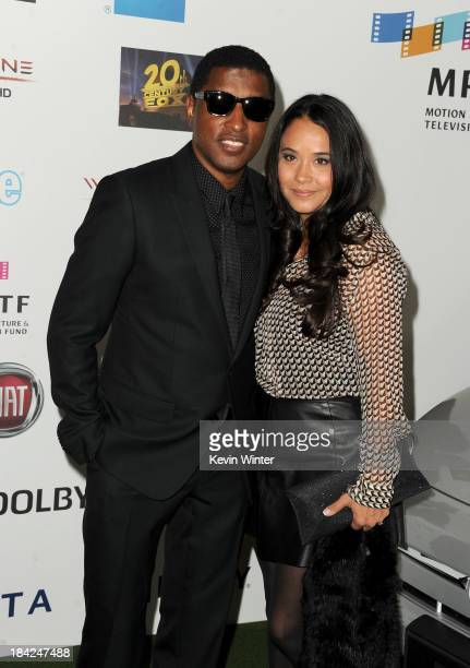 Singersongwriter Kenneth Babyface Edmonds and Nicole Pantenburg attend Hugh Jackman One Night Only Benefiting MPTF at Dolby Theatre on October 12...