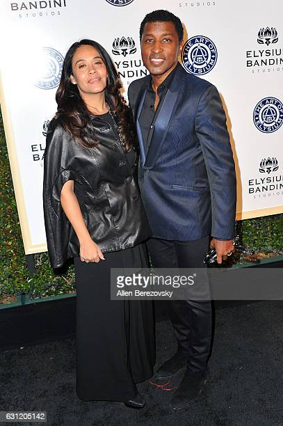 Singer/songwriter Kenny Babyface Edmonds and Nicole Pantenburg attend Stevie Wonder's HEAVEN 10th Anniversary celebration presented by The Art of...
