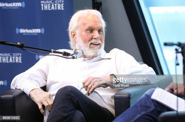 Singersongwriter Kenny Rogers speaks during SiriusXM's 'Town Hall' With Kenny Rogers at SiriusXM's Music City Theatre on June 8 2017 in Nashville...