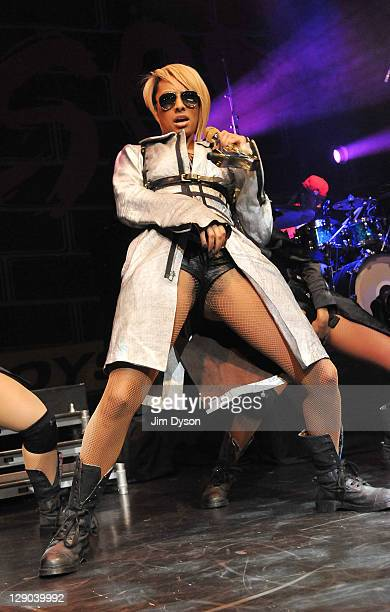 B singer/songwriter Keri Hilson performs live on stage at Indigo2 at O2 Arena on October 11 2011 in London United Kingdom