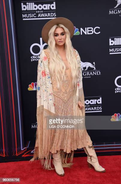 Singer/songwriter Kesha attends the 2018 Billboard Music Awards 2018 at the MGM Grand Resort International on May 20 in Las Vegas Nevada