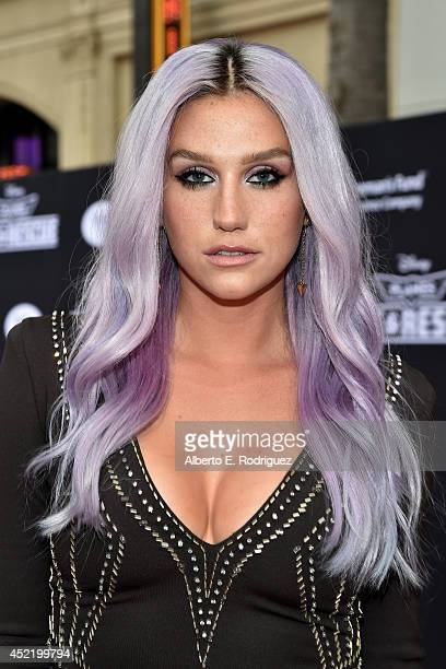 Singer/songwriter Kesha attends World Premiere Of Disney's Planes Fire Rescue at the El Capitan Theatre on July 15 2014 in Hollywood California