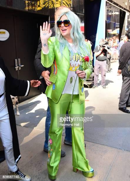 SingerSongwriter Kesha is seen outside 'Good Morning America' on August 9 2017 in New York City