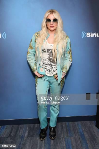 Singersongwriter Kesha visits SiriusXM Studios on July 18 2017 in New York City