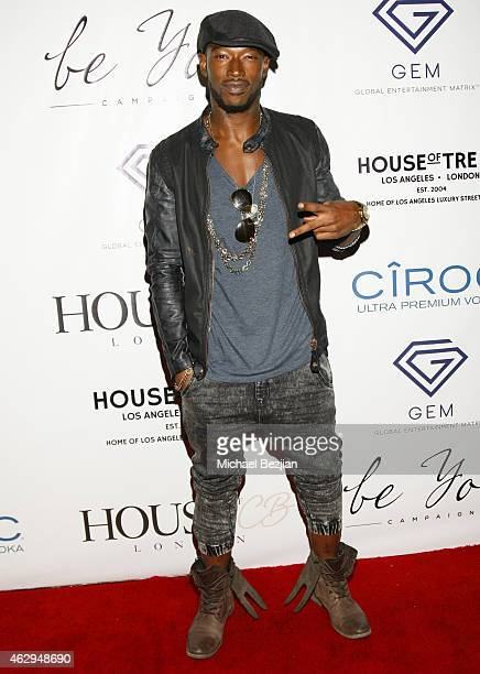 Singer/Songwriter Kevin McCall Jr attends House Of CB House Of Tre Li Pre Grammy Party on February 7 2015 in Los Angeles California