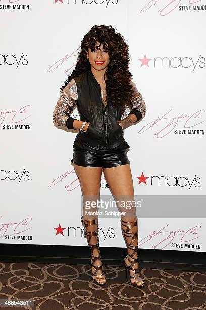 Singersongwriter Keyshia Cole visits Macy's Herald Square on April 24 2014 in New York City