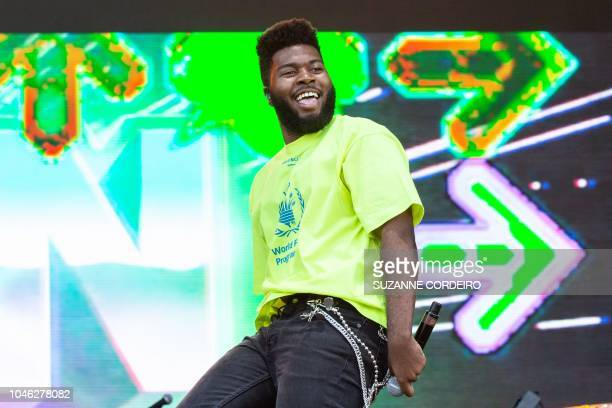 Singersongwriter Khalid performs during weekend one of ACL Music Festival at Zilker Park in Austin Texas on October 5 2018
