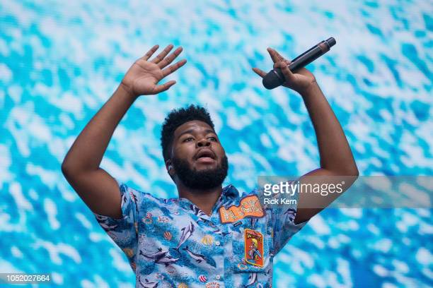 Singer-songwriter Khalid performs onstage during weekend two, day one of Austin City Limits Music Festival at Zilker Park on October 12, 2018 in...