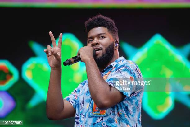 Singersongwriter Khalid performs onstage during weekend two day one of Austin City Limits Music Festival at Zilker Park on October 12 2018 in Austin...