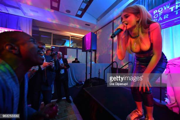 Singer-songwriter Kim Petras performs during the Lambda Legal 2018 National Liberty Awards at Pier 60 on April 30, 2018 in New York City.