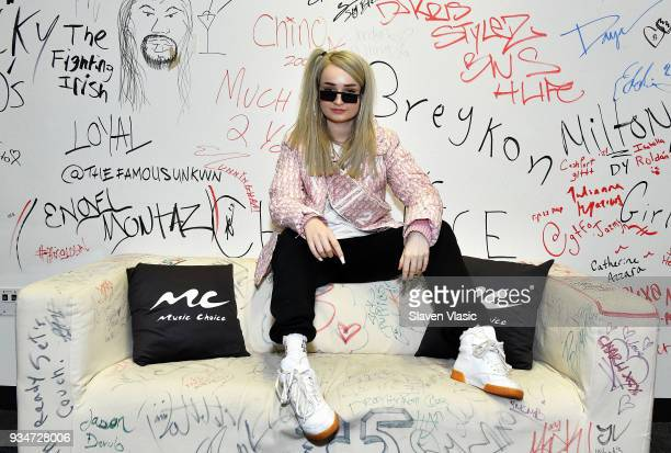 Singer/songwriter Kim Petras visits Music Choice on March 19 2018 in New York City