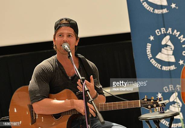 Singer/Songwriter Kip Moore at GRAMMY U Fall KickOff with Kip Moore and Brett James at MTSU on October 8 2013 in Murfreesboro Tennessee