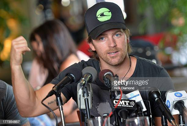 Singer/Songwriter Kip Moore does a Q A session with local and national press as part of the BMI Party For 'Hey Pretty Girl' by Kip Moore at Flying...
