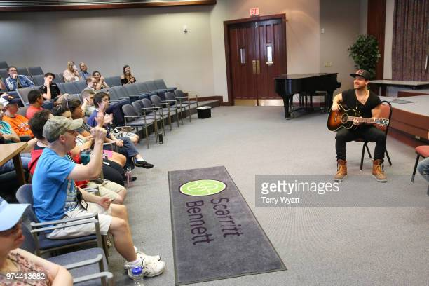 Singersongwriter Kip Moore joins ACM Lifting Lives campers during ACM Lifting Lives Music Camp Songwriting Workshop at Vanderbilt University on June...