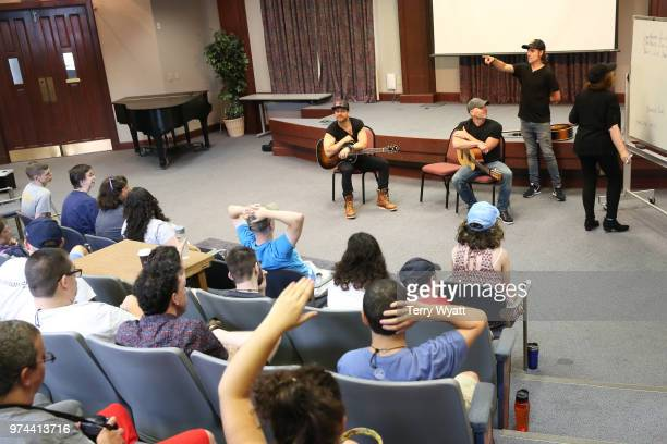 Singersongwriter Kip Moore Producer Ross Copperman and songwriter Jon Nite join ACM Lifting Lives campers during ACM Lifting Lives Music Camp...