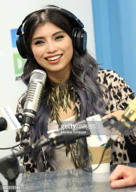 Singersongwriter Kirstin Maldonado visits The Elvis Duran Z100 Morning Show at Z100 Studio on July 25 2017 in New York City