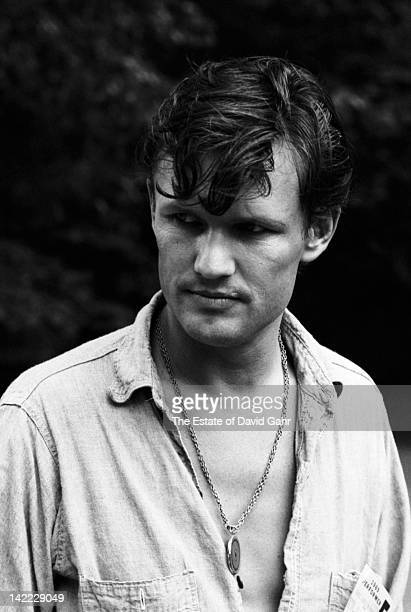 Singer/songwriter Kris Kristofferson backstage before performing at the Newport Folk Festival in July 1969 in Newport Rhode Island