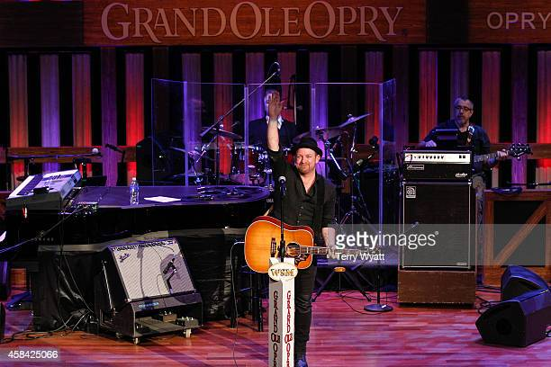 SingerSongwriter Kristian Bush performs at The Grand Ole Opry at Ryman Auditorium on November 4 2014 in Nashville Tennessee