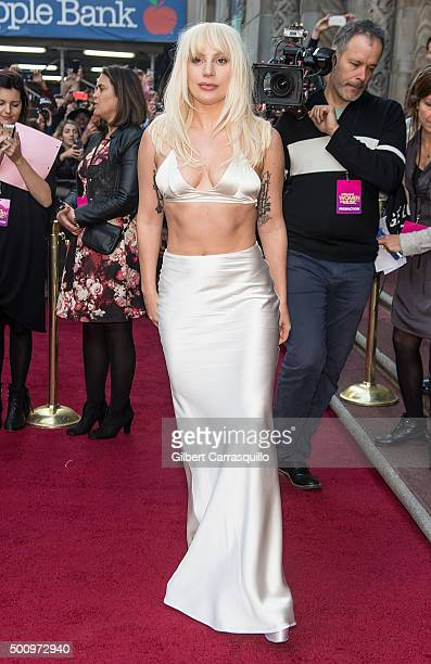 Singer-songwriter Lady Gaga attends Billboard's 10th Annual Women In Music at Cipriani 42nd Street on December 11, 2015 in New York City.