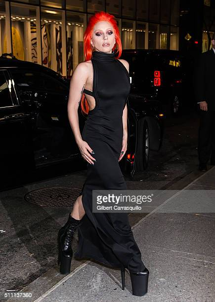 Singersongwriter Lady Gaga attends the V Magazine Party at the Rainbow Room on February 17 2016 in New York City