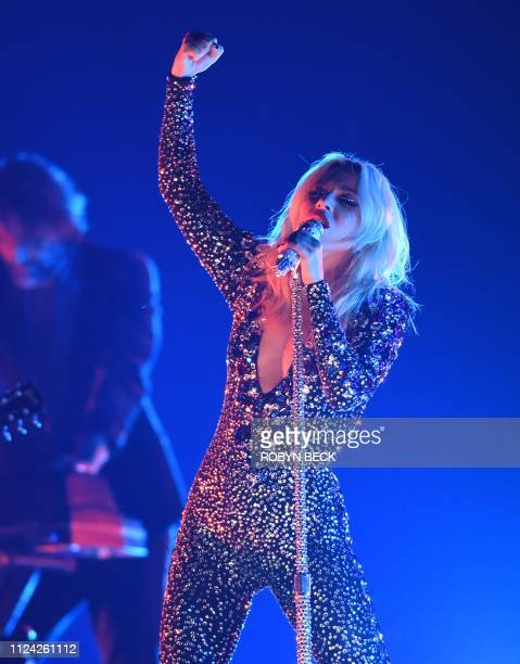 US singersongwriter Lady Gaga performs onstage during the 61st Annual Grammy Awards on February 10 in Los Angeles