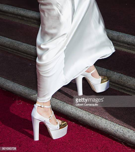 Singer-songwriter Lady Gaga, shoe detail, attends Billboard's 10th Annual Women In Music at Cipriani 42nd Street on December 11, 2015 in New York...